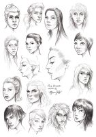 Face Studies Women 01 by the-a-line