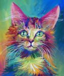 Colorful Cat 4 by San-T