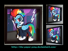 Shadowbox: Zapp/ Rainbow Dash by The-Paper-Pony