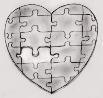 Heart Puzzle by BleedBlackHBS