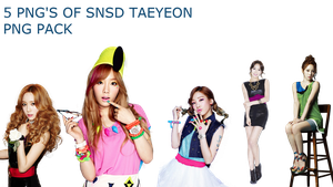 SNSD TAEYEON PNG PACK by Acoojoy13