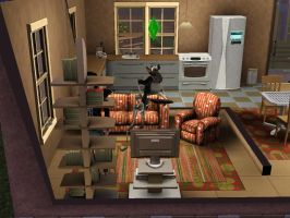 Just another day playing sims by Mustache-Massacre