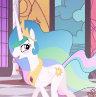 Princess Celestia - Catch me if you can! - MLP by Dragk