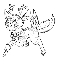 Lineart LeaTenshi by ConkerTSquirrel