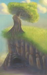 One tree cave by Andyroid0