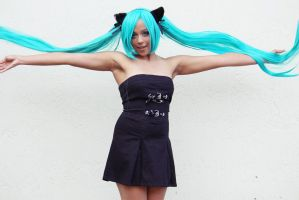 Hatsune Miku Cosplay: The Project Diva by Awesome-Vivi