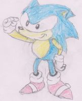 Classic Sonic colored by miller17