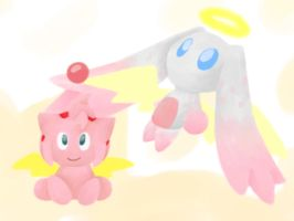 The Goddess and Immortal chao by MiniDragonfly