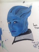 Mass Effect Liara Painting by CobaltMedic