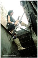 Yuffie: waiting in Edge by kiksology