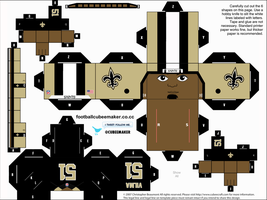 Jonathan Vilma Saints Cubees by etchings13