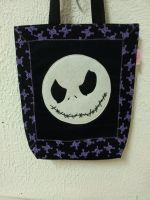 Handmade Jack Skellington Halloween Tote Bag by RbitencourtUSA