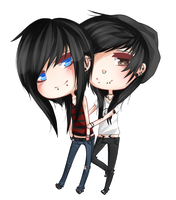 strxbe: Joshwa and Damien |chibi| by okita17