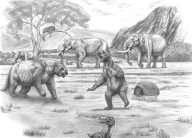 Prehistoric Safari :The Pleistocene South America2 by Jagroar