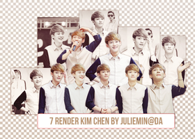 [PNGPACK]  Chen#1 render - EXO by JulieMin