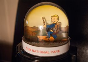 Fallout New Vegas Snow Globe - Zion National Park by CWcanine