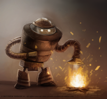 DAY 220. Firebot by Cryptid-Creations