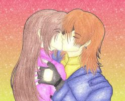 Steve And Claire Kiss by DarkAngel0267