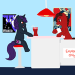 in the soda shop by Musicalmutt2