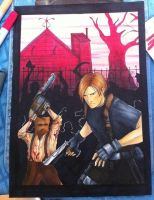 Resident Evil 4 (Gamecube Cover) Commission by Destinyknights