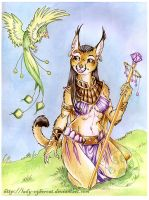 Egyptian Caracal by lady-cybercat