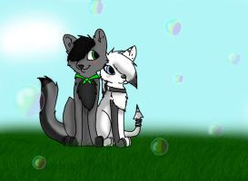 Luko and Erini BUBBLES!!! :AT: by steampuff