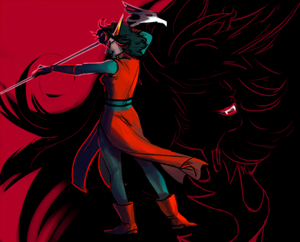 Homestuck - redglare+mindfang by weaselyperson