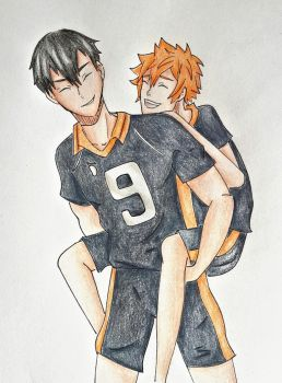 Kageyama Tobio and Hinata Shouyou ~ Haikyuu!! by Optimistic-Alpaca