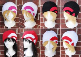 Pokemon X and Y Trainer Hat - Reds and Pink by akiseo