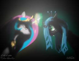 Celestia Vs Chrysalis by AFL316