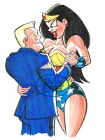Wonder Woman and Steve Trevor by tzahler