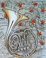 French Horn by SamanthaJordaan
