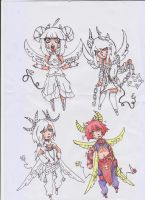 Skull Twitchies Warriors SKETCH ADOPTS {CLOSED} by Yuu-Tanni