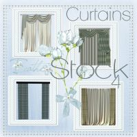 Curtains 04 stock pack by Ecathe