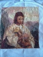 Cross-stitch Jesus with a lamb by AnoTsukai