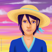 Rukia Summer Sunset by AlienNinja