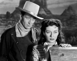 John Wayne and Gail Russell by slr1238