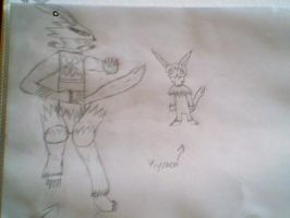 Kyumon and Armor Digitation by SasuSakuLover94