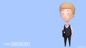 3D Cartoon Patrick Jane by LuizHD
