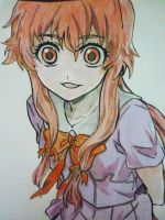 Gasai Yuno - fan art of fan art n.n by TenshiNandaYo