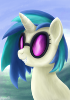 DJ Pon3 Portrait by Angerelic