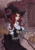 Red Haired Witch by IrenHorrors