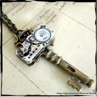 Steampunk Key Necklace by SoulCatcher06