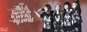 [Cover / Quote ] 2NE1 rock this world by Ashleylovesel