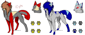 Scene wolf adopts by FoodStamps-adopts
