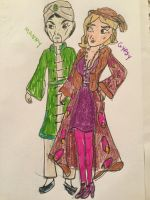 Manny and Gypsy Humanized by Paleogirl47