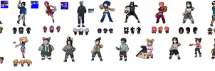 Naruto Sprites by marcani