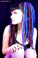 Blue dreads by MaliceDoll