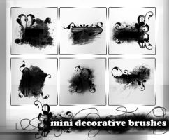 004- mini decorative brushes by ffyunie