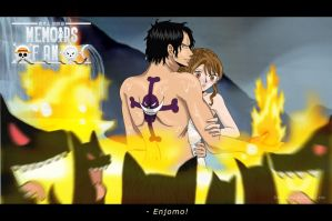 One Piece FF. Fuu X Ace Wolves by TenshiNoFuu